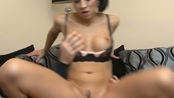 Beautiful dark Julia Onze Lucia licks balls and gets hammered in serve become