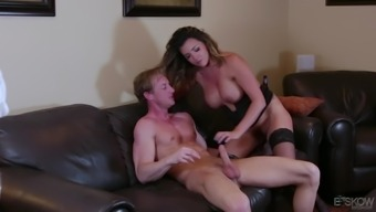 Astonishing brunette Danica Dillon results in letting a piece ingest her cherry before a fuck
