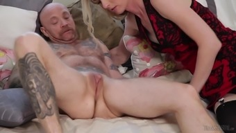 Mandy Mitchell is a chicken with a dick positioned for a kinky act