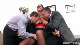 A natural environment threesome with the use of big junk for your slutty Phoenix Marie