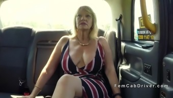 substantial titties age lesbian trouncing in taxi
