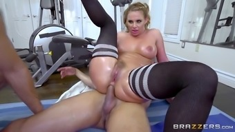 mean whore gilbert az marie gets double entered while working out