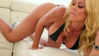 Gorgeous blonde Alexis Fawx normally takes a role in ridiculous blowbang scene