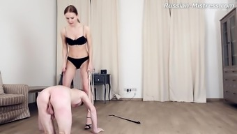 Wise leg craze diva with genuine tits rapid her tool superbly in BDSM