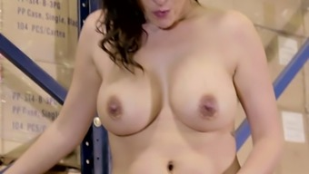 Great breasted owner of hirsuite clit Danica Dillon amusement rides solid cock at the top