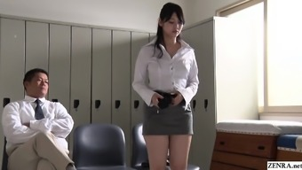 JAV stars turned coach Rei Mizuna striptease Subtitled