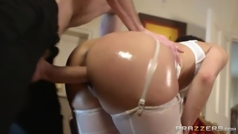 samia duarte wearing light lingerie getting pounded doggystyle