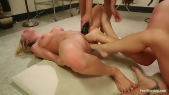 great path fisting lesbian orgy with the use of four abominable whores