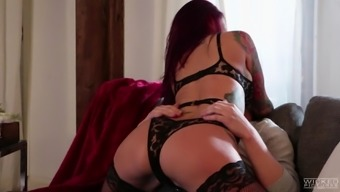 Astounding sensual workout with inked blond Monique Alexander