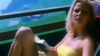 Too bushy pussy of old-fashioned girl gets finally fucked during summertime vacation