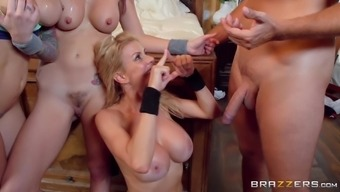 Rachel Starr and Monique Alexander attract a few and fuck with him or her