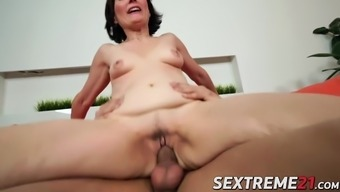 Horny granny has her approach with the use of perverted younger porn star on sleep