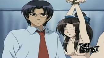 Several remarkable servitude along with steamy fuck in heated hentai vid