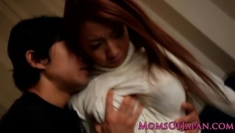 Japanese mother facefucked by hard shaft