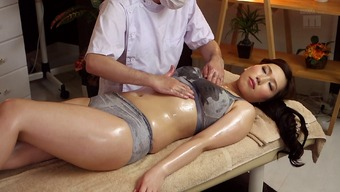 Warm Japanese people milf toward the massage therapy tables for little finger fucking