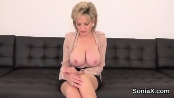 Unfaithful english milf lady sonia opens up her heavy titties