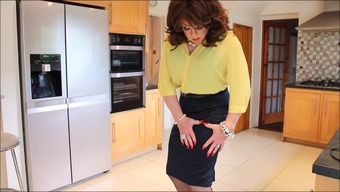 Yellow blouse and red softer fabric mini skirts