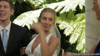 Nicole Aniston chop on top of her fiance for the wedding ceremony