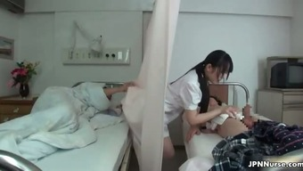 Japanese nurse likes being intimate with two different part3
