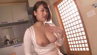 Major bosoms From asia damsel in small long dresses gets positioned