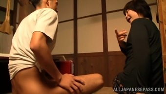 Melancholy age newbie From asia presenting a breathtaking palm position in that case gives a spicy blowjob