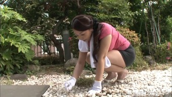 Japanese people homemaker aroused in addition he gropes her nipples