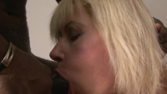 Blond Granny's Booty drilled by the bad fats BBC