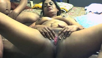 Novice arena with the use of Indian BBW lover getting bottle among the pussy