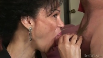 Spunk thirsty grannie attempts to experience a small portion delightful man liquid