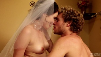 Horny bride gets her sexual cherry pummeled with a solid dick