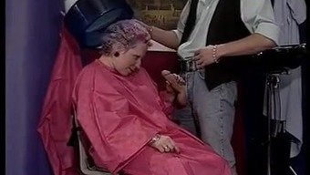 GREYHAIRED GRANNY FUCKED From the HAIRDRESSER (VINTAGE)