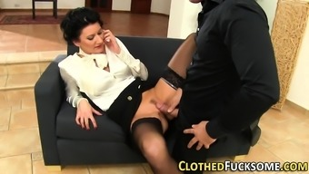 Clothed glam ho your mouth ejaculate