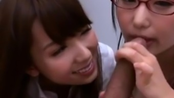 Two young adult from asia schoolgirls fucked by teacher