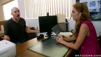 Irritated client involves the office and fucks the desk staff