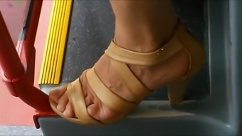 Sincere Shoes In Train And Train