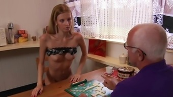 Grandpa fucks great young adult the woman blows his cock