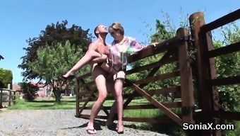 Adulterous uk milf lady sonia enhance her weighty hooters