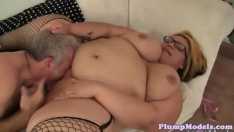 SSBBW gets fucked in attractive stockings