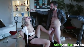 adult man fucks your mouth of sizzling spiteful lady using his penis