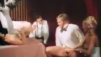 Weird vintage sex show in the heart of the joyful celebration of marriage event