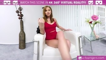 VR PORN-PAOLA MIKE- CLEANING WITH A DILDO Within the Booty!