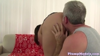 Bigtitted ssbbw crushed hard upon the sofa