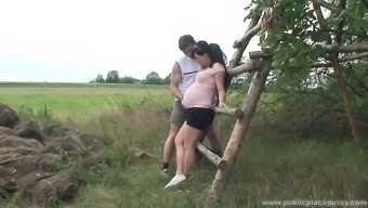 Beautiful becomes pregnant love is perverted as torment and needs to fuck outside