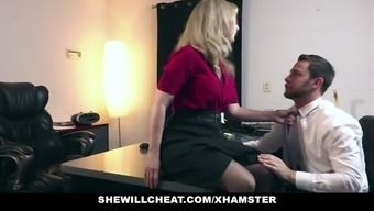 SheWillCheat - Older MILF Nina Hartley Hires Young Man For