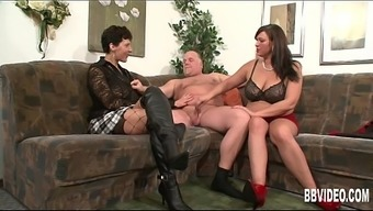 In german milfs fucking a perverted dude