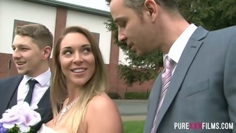Groom's good friend gets awesome blowjob and get a tainted future bride Victoria Summers