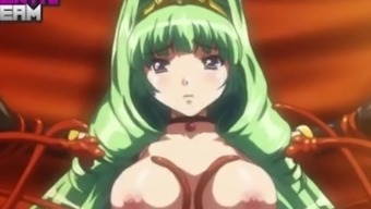 Uncensored Hentai - Big Breasted Princess Knight is Gangbanged and Tied by Humans and Orcs!