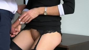 Anal passage Creampie For Horny Home, Boss Fucked Her Restricted Pussy And Booty!