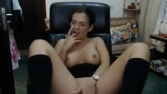 Woman almost gets discovered by son getting nasty on livecam
