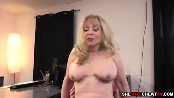 Younger employee romping Nina Hartleys aged pussy complicated